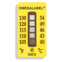 non-reversible temperature sticker