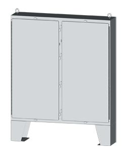 NEMA Type 4x 304 and 316 Stainless Steel Two-Door Electrical Enclosures and Cabinets - Sizes from 64x48 to 74x72