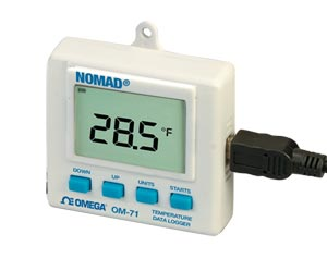 temperature and humidity logger with display | OM-70 Series