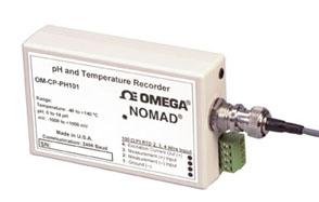 Registratore per pH e temperatura, parte della famiglia Nomad. | OM-CP-PH101