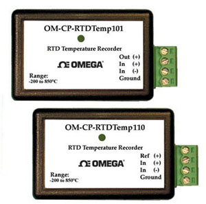 Precision Temperature Data Loggers Part of the NOMAD® Family | OM-CP-RTDTEMP101 and OM-CP-RTDTEMP110