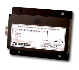 data logger for humidity, temperature, pressure and acceleration | OM-CP-ULTRASHOCK101