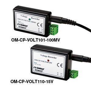 Single Channel  Voltage Dataloggers, Part of the NOMAD® Family | OM-CP-VOLT101 and OM-CP-VOLT110