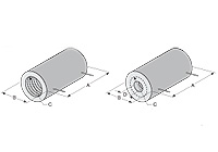 High Temperature, Low Mass, Vacuum Formed Ceramic Radiant Full Cylinder Heaters | CRFC Series