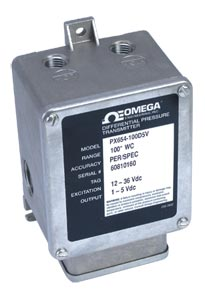 Highly Accurate, Low Pressure Industrial Transducer   PX654