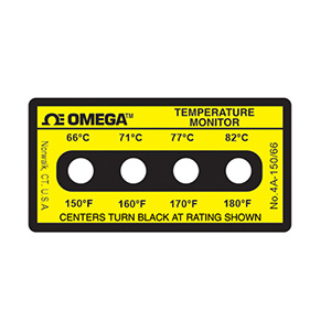 Non-Reversible OMEGALABEL™ Temperature Monitors, 4 Temperatures Per Label | 4A-(*),4B-(*) and 4C-(*)