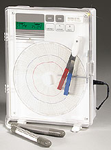 Dual Temperature Chart Recorders, 6 inch (152mm), with High & Low Alarms | CT82 Series