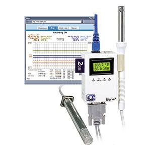 Trasmettitore di umidità e temperatura  Ethernet con scheda SD. | iTHX-SD