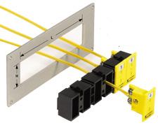 Serie alloggiamenti (Snap Strips) per il montaggio dei connettori o prese jack a pannello miniaturizzati MPJ. | Serie MSS