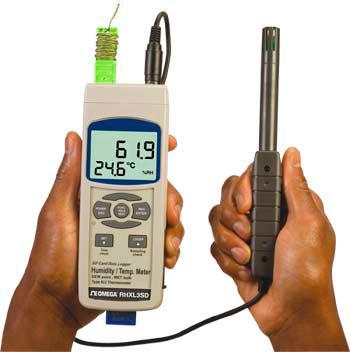 Registratore di dati e termometro/igrometro portatile. | RHXL3SD