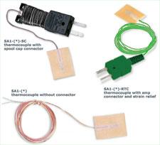 Termocoppie a risposta rapida con supporto autoadesivo. | Serie SA1 in confezione da 5 pezzi