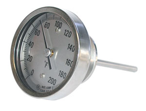 Hygienic Bimetal Thermometers | AA, BB, JJ and LL Bimetal Thermometers