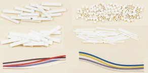 Isolanti con involucro in ceramica, PFA e fibra di vetro. | Serie SH, DH, OV, FS, FBGS, TF