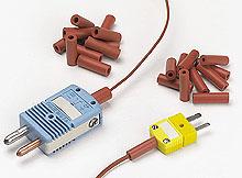Accessori per connettori per termocoppia in miniatura con contatti piatti: Morsetti per cavo, Scarico della Tensione, Gommini, Crimps in Ottone | SMP-SC, SMPW-CC, SWCL, MSRT, PCLM, SMACL, RMACL, MACL, RB-SMP, MRB,MRBS e BB-SMP